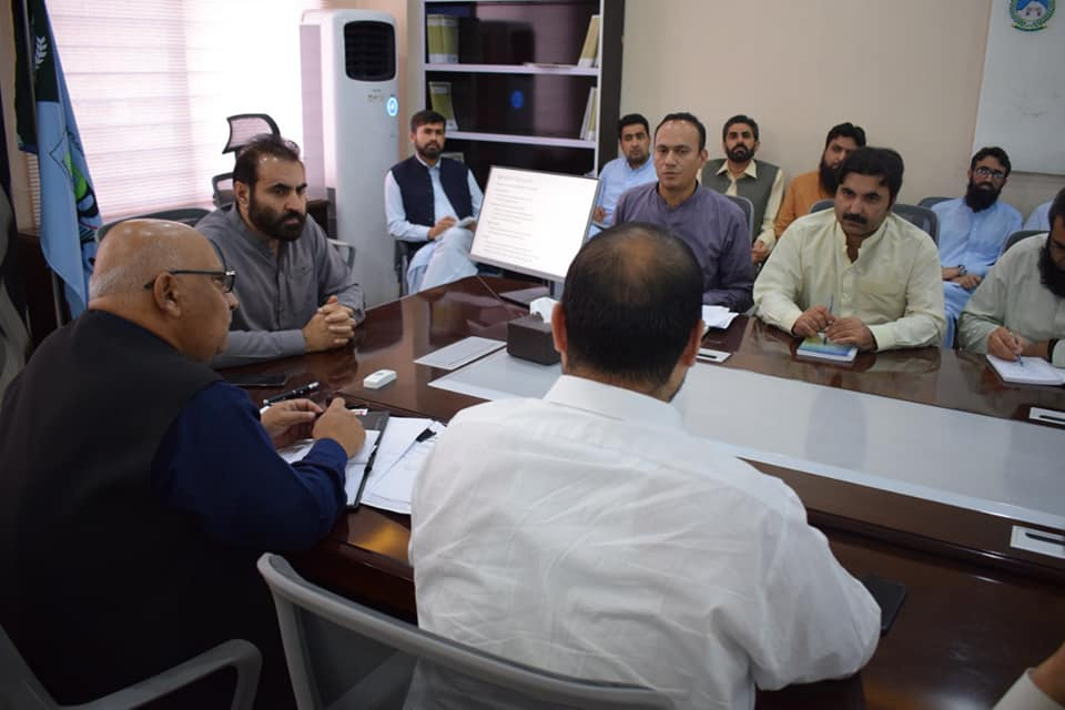 1st Quarter Review Meeting with staff of Collectorate